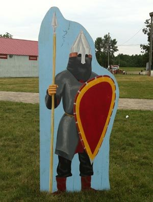 cutout of medieval viking